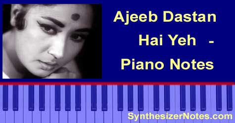 Ajeeb Dastan Hai Yeh Piano Notes