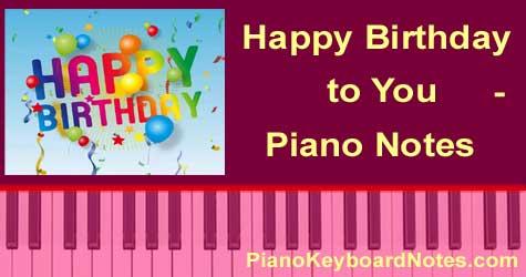 Birthday Song - Happy Birthday to You - Piano Notes