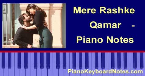 Mere Rashke Qamar Piano Notes